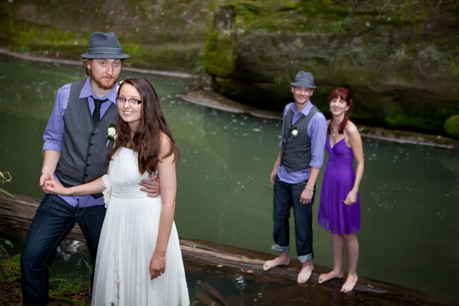 men can wear purple at a garden wedding 6