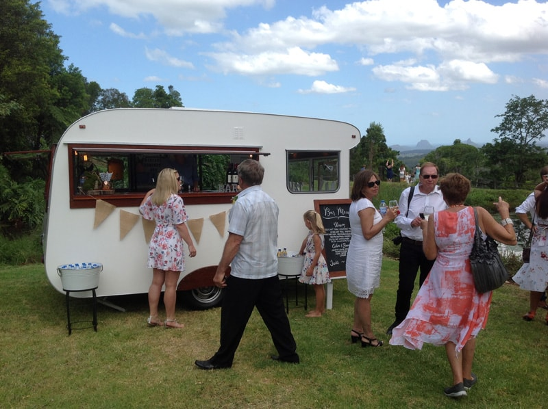 Hideaway wedding with vintage caravan