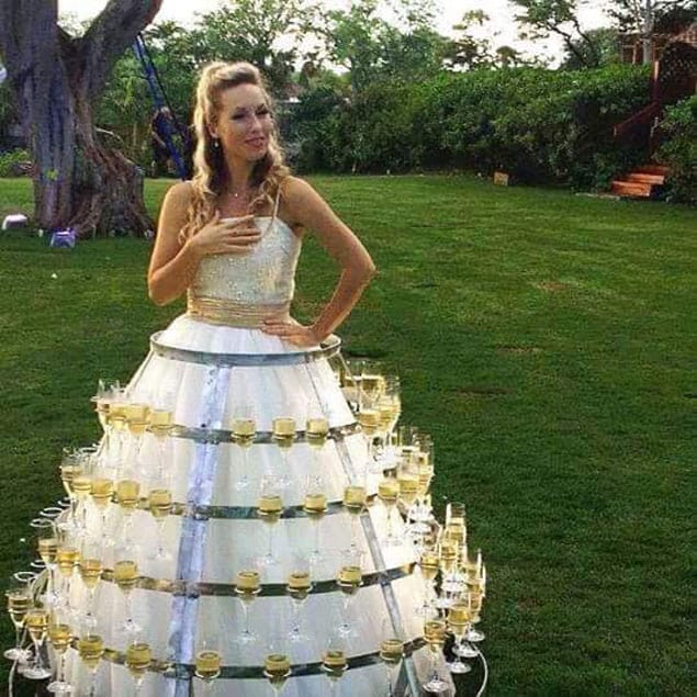 wine wedding dress