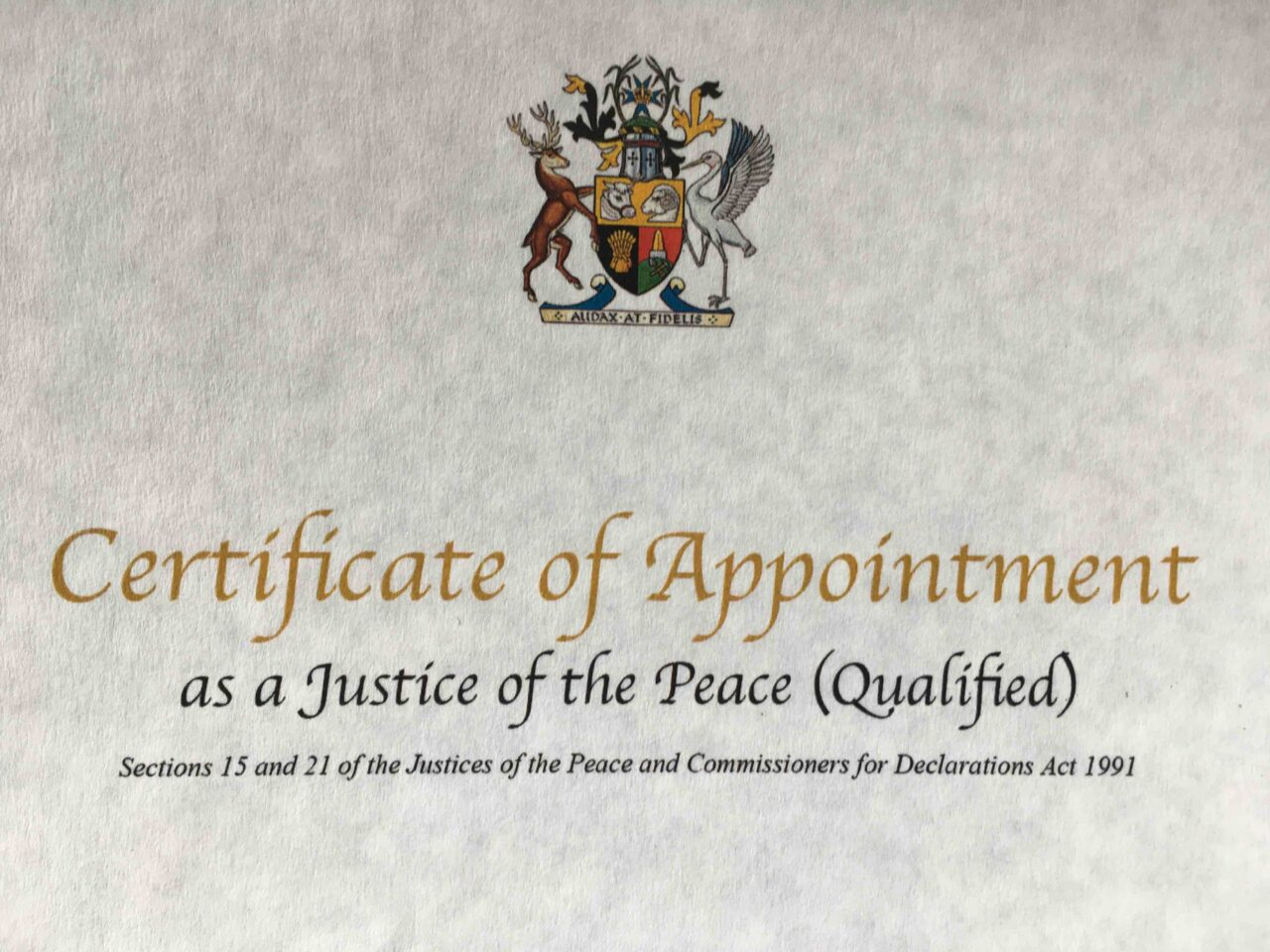 Justice of the Peace_Kari_letter of appointment