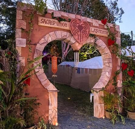 Sacred labyrinth gateway