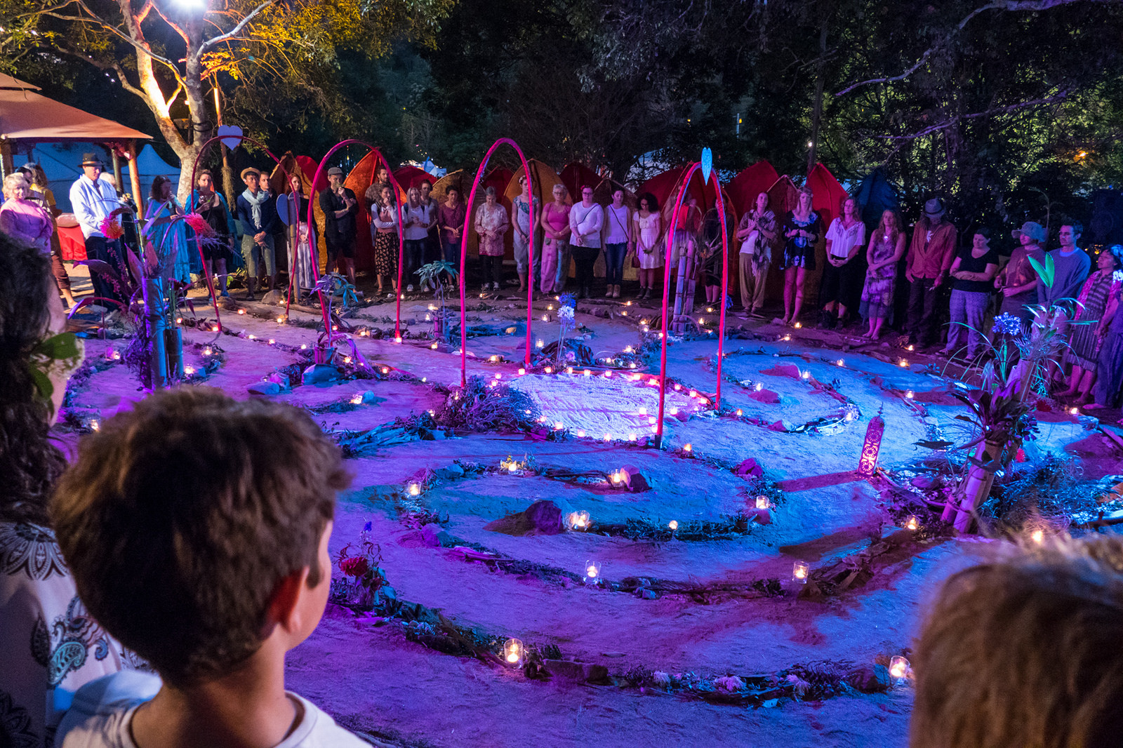 Woodfordia sacred Labyrinth for weddings