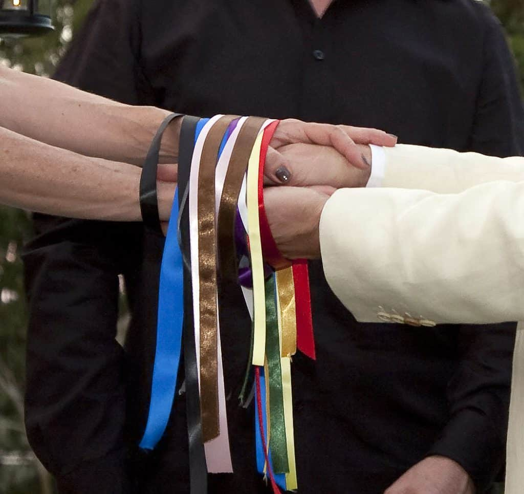 coloured ribbons for handfasting